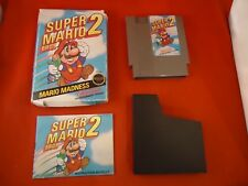 Super Mario Bros. 2 Nintendo NES 1988 COMPLETE Box manual game WORKS! Brothers E