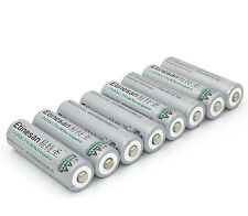 8pcs Etinesan 3.2V 14500 AA LiFePO4 li-ion Rechargeable Battery for Solar Lights