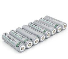 8pcs Etinesan 3.2V 14500 AA 600mAh LiFePO4 lithium li-ion Rechargeable Battery
