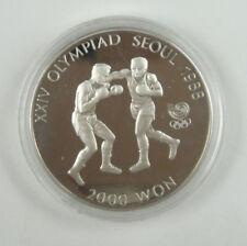 New listing Korea-south 2000 Won, 1986, 1988 Olympics Boxing Unc