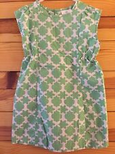 *HANNA ANDERSSON* Girls Play Happy Seed Green Dress Size 110 5-6