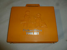 VINTAGE FISHER PRICE TOOL KIT W CASE 1977 TOY CHILD #924 POWER DRILL SCREWDRIVER