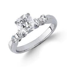 GIA Certified Cushion Cut Diamond Engagement Ring 1.40 Carat 18k Gold