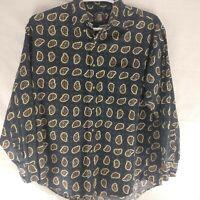 Gant Salty Dog Mens Paisley Shirt  Long Sleeve Button  Large