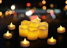 12pc Candles Tealight LED Flameless Flickering Wedding Battery Included Real Wax