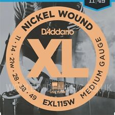 D'Addario EXL115W Blues/Jazz/Rock Electric Guitar Strings (wound 3rd)  011 - 049