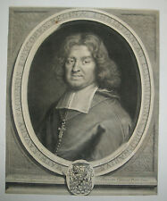 17ème Portrait de MATHIEU SAVARY, Evêque de SEEZ  Gravé par G. EDELINCK en 1683