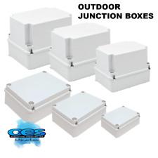 OUTDOOR WATERPROOF PVC ADAPTABLE JUNCTION BOX IP55-67 ENCLOSURE INDOOR ALL SIZES
