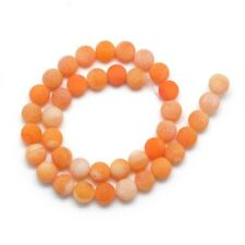 Edelsteine Achat Perlen 10mm Matt Naturstein Orange Rund Schmuck BEST R315