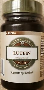 GNC Lutein 40mg, 30 Softgels, Supports Eye Health best by 3/21 FAST SHIPPING