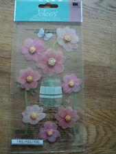 EK SUCCESS JOLEE'S BOUTIQUE Rose Fleurs dimensionnelles Stickers Entièrement neuf sous emballage