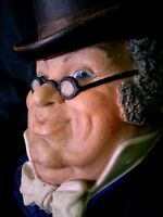 Vintage Legends chalkware Mr. Pickwick head PERFECT MINT CONDITION England