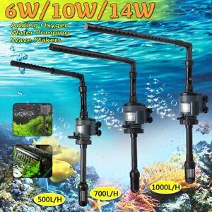 6W/10W/14W 3 in 1 Fish Tank Aquarium Submersible Filter Oxygen Water Pump a