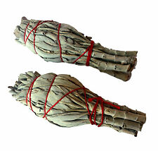 Californian White Sage Smudge Sticks Wands x 2-TWO Smudging Pagan Wicca