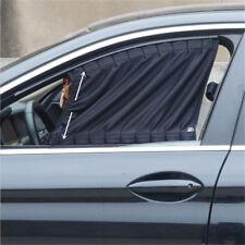 Universal Elastic Hem Car Door Curtain Metal Rail Sliding Visor Sunshade 50x39cm