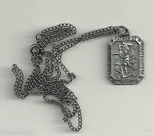 SAINT MICHAEL ARCHANGEL PATRON OF PARATROOPERS PENDANT DOG TAG WITH CHAIN
