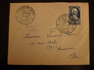 FRANCE PREMIER JOUR FDC YVERT 940    COMTE D ARGENSON    12+3F   BOURGES   1953