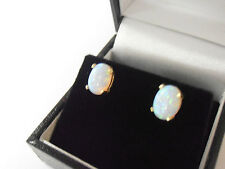 9ct GOLD OPAL SET STUD EARRINGS   9ct GOLD OPAL STUDS