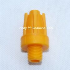 10pcs YELLOW ABS Air Blower Air Nozzle Air Knife Wind Nozzle 1/4'' bspt Round
