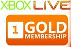 1 Month Xbox Live Gold Membership DLC Card Xbox 360 *BRAND NEW!*