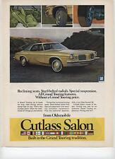 1973 Oldsmobile Olds Cutlass Salon Grand Touring GT Rocket V8 Print Ad