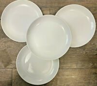 Set of 4 IKEA Porcelain 365+ White Coupe Salad Plates Susan Pryke 8""