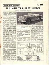 Triumph TR3 1957 Model Motor Trader Service Data No. 279 1957