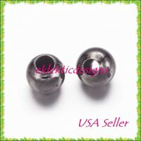 4mm 100 pc Gunmetal Black Plated Metal Spacer Beads Jewelry Findings Necklace