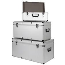 Aluminium 3er Set Boxen Alubox Alukiste Transportbox Werkzeugkiste Trucky Silber