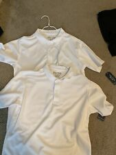 Boys School Uniform White Polo Lot Of 2 Size14-16 Nwt