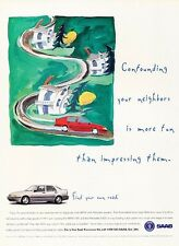 1996 SAAB 9000 Aero -  Original Advertisement Print Art Car Ad J557