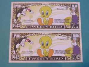 Looney Tunes TWEETY BIRD Saw A Putty Tat! ~*~ $1,000,000 One Million Dollar Bill