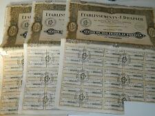 24 ancien ACTION 1928 titre BON PORTEUR 100 francs ETABLISSEMENTS DRAPIER ridder