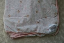 Cottie & Cake Baby Blanket Floral Flower Pink White Blue Brown RN 133541