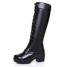 idomcats Damen army boots Stiefeletten Schuhe schnürer Schnürstiefel Langschaft