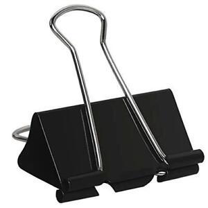 Heqishun Extra Large Binder Clips 2 inch Jumbo Binder Clips 24 Pack Big Metal