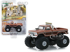 """1978 FORD F-350 MONSTER TRUCK """"BFT"""" BROWN 1/64 DIECAST MODEL GREENLIGHT 49050 A"""