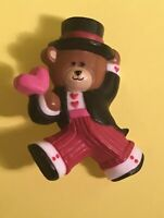 Vintage 1986 Hallmark Valentine's Day Tuxedo Teddy Bear with Heart Pin