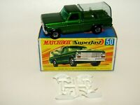 Matchbox Superfast No 50 Kennel Truck Green GREY BASE WIDE Wheels VNMIB HTF