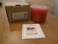 Longaberger Pint-Size Pillar Candle Spiced Carmel Nib