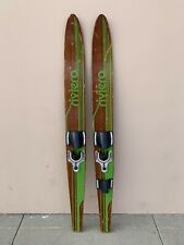"""New listing VTG Pair Riviera Combo 67"""" Ski Wood Water Skis Waterskis Wooden USA"""