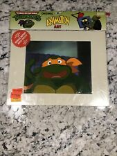 New Listing1991 Tmnt Cartoon Cel Michelangelo Animation Cel Art Sealed Coa Ra5