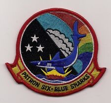 USN VP-6 BLUE SHARKS patch MARITIME PATROL SQUADRON