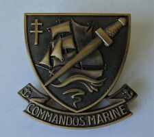 More details for french commandos marine beret badge - new