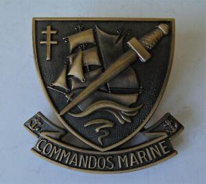 French Commandos Marine Beret Badge - New
