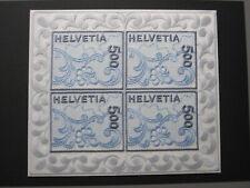 Schweiz Briefmarken Michel 1726 als Bogen postfrisch Stickerei-Marke