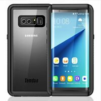 Galaxy S7 S7 Edge Note 8 S8 S8 Plus S9 S9 Plus Waterproof Case Shockrproof Cover