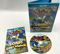 Sonic Lost World --  (Nintendo Wii U, 2013) Complete
