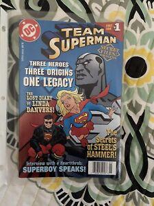 Team Superman Secret Files and Origins #1 Vf+/nm-DC Steel Supergirl Superboy 98
