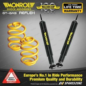 Rear Lower Monroe Shock Absorbers King Springs for PEUGEOT 307 1.6 2.0 Hdi 01-05